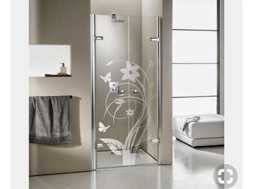 Adesivo para box de banheiro Floral / Arabesco