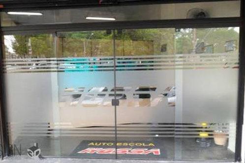 Adesivo Jateado para vidros, portas e janelas #7