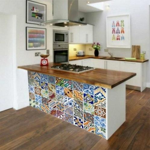 Adesivo Papel de Parede para Cozinha - Azulejo #1