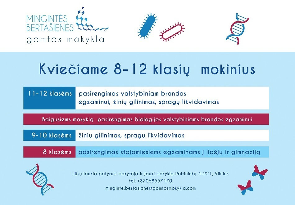 Biologijos korepetitorius Vilniuje