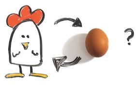 Kas pirmiau - višta ar kiaušinis?