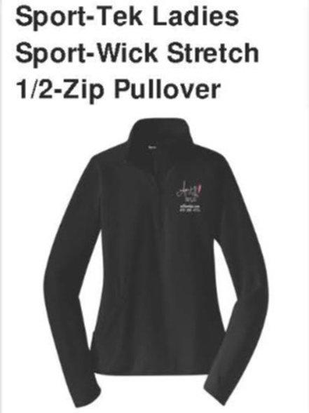 Sport-Tek Ladies Sport Wick Stretch 1/2 Zip Pullover