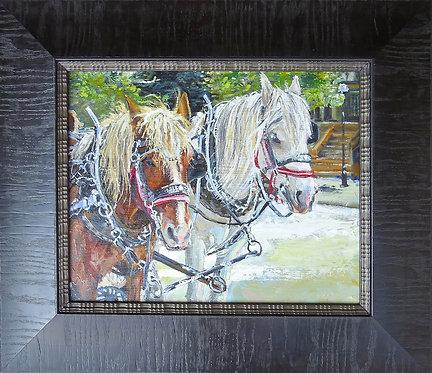 Park City Parade Horses 12x15