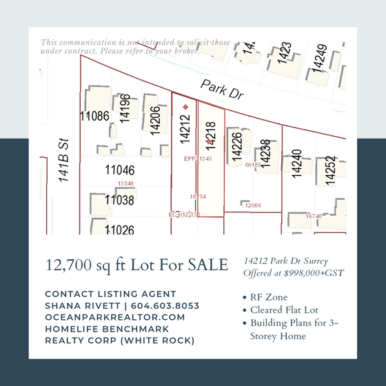 Just Listed! Large Flat Cleared Building Lot available on Quiet Residential Street in North Surrey