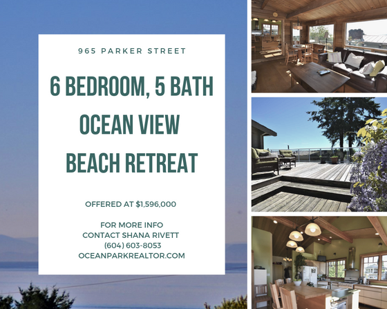 JUST LISTED! 6 BEDROOM, 5 BATH BEACH RETREAT - Gulf Island living right here in sunny White Rock!