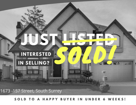 SOLD in the Heart of Beautiful South Surrey!