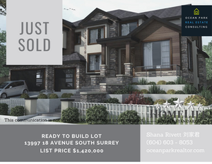 JUST SOLD: Ready to Build Lot in South Surrey