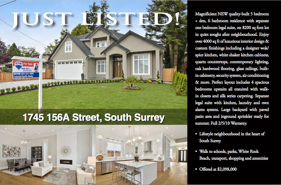 JUST SOLD! Brand New Home in the Heart of South Surrey!
