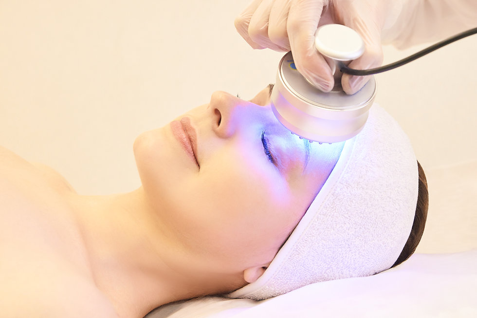 Light infrared therapy. Cosmetology head