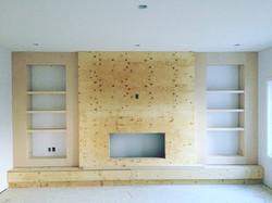 Custom fireplace (in progress)