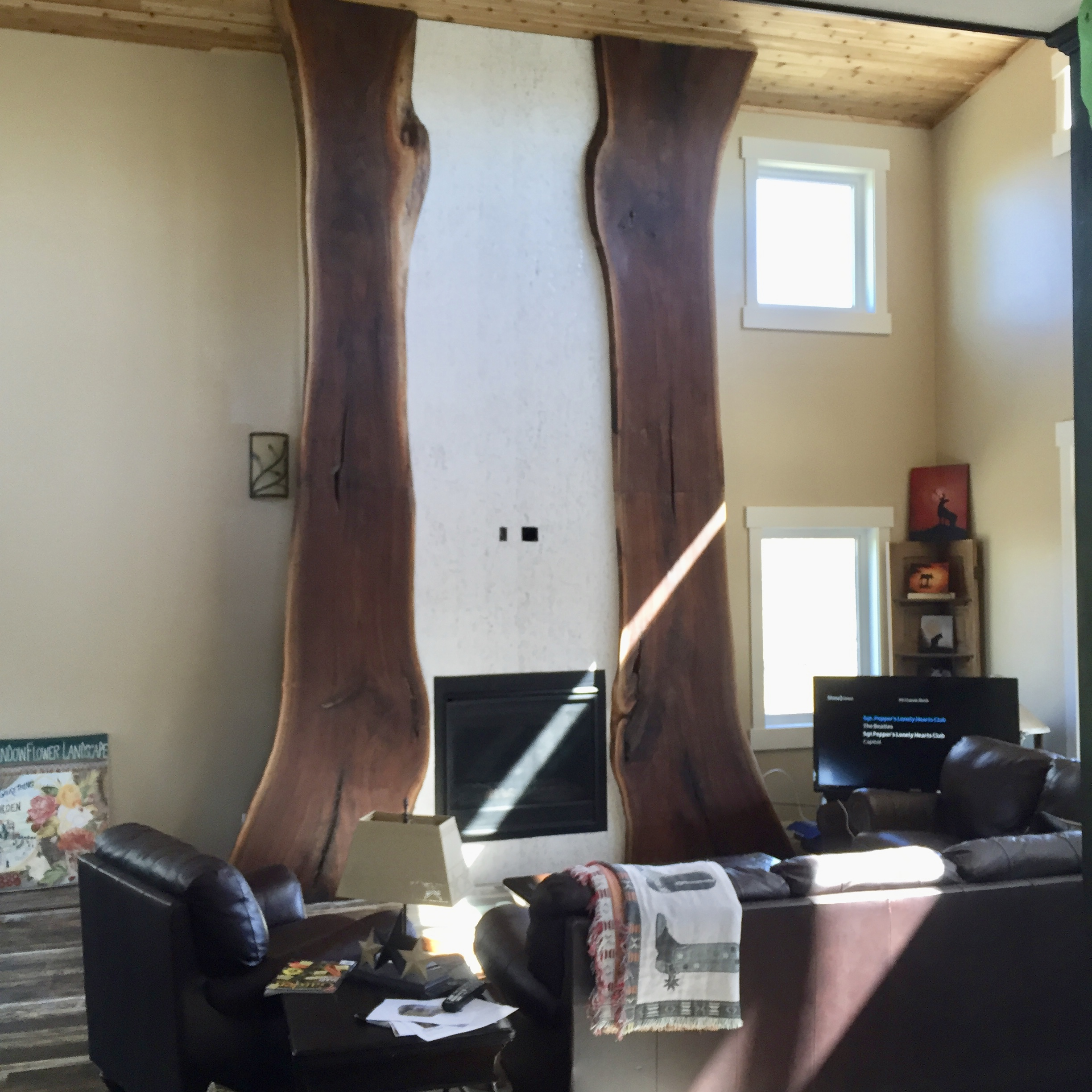 Walnut fireplace slabs (in progress)