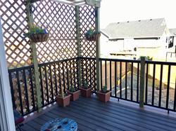 Composite tiered deck