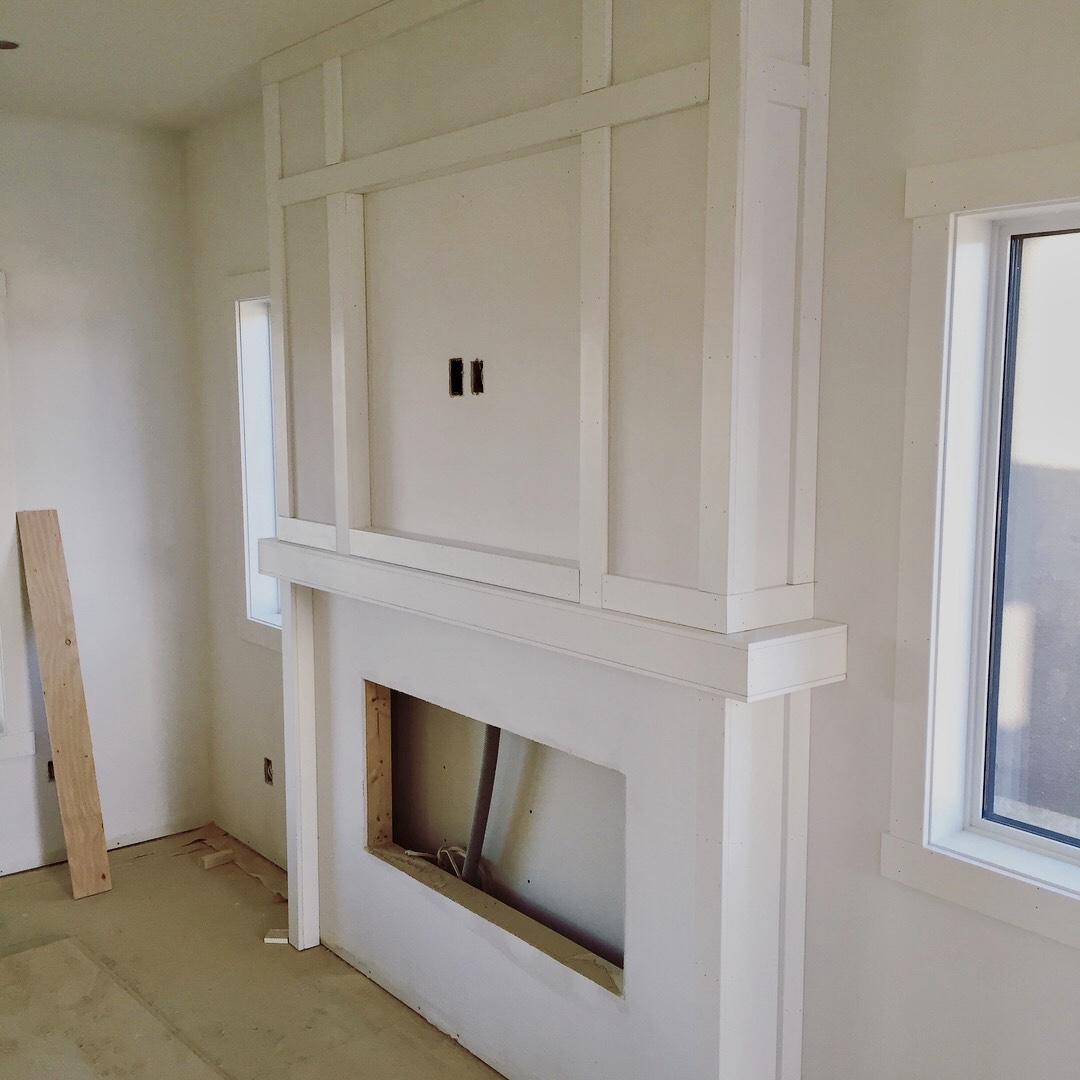 Fireplace wainscoting (in progress)