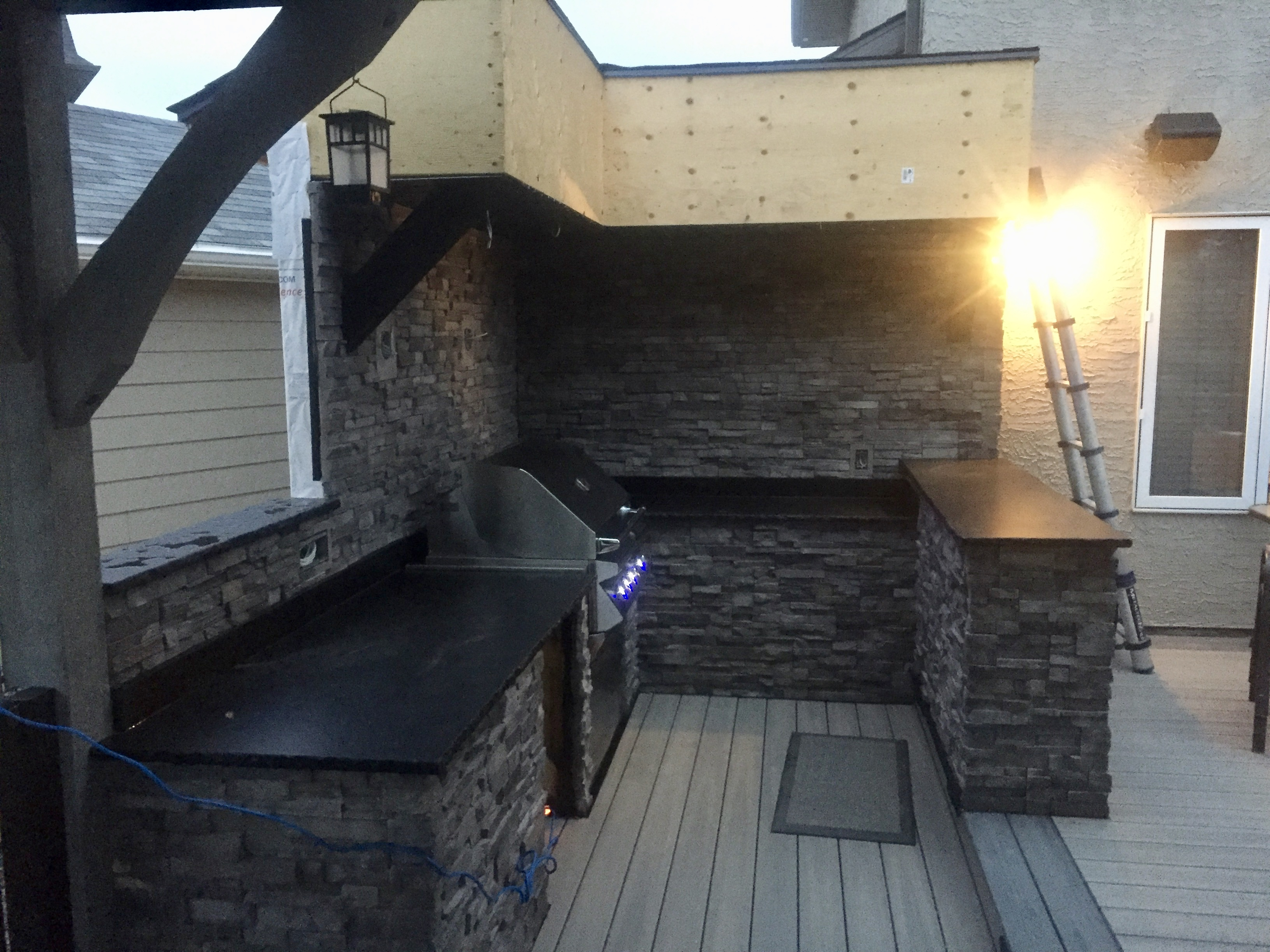 Outdoor BBQ area (in progress)
