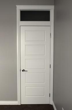 Door and transom installation