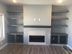 Fireplace feature (in progress)