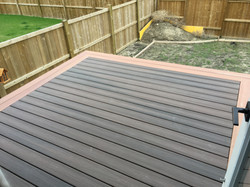 Composite tiered deck (in progress)