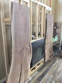 Walnut fireplace slabs (in progress)