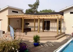 Composite deck w/cedar pergola