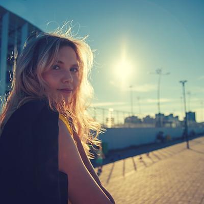 Провожали солнце с Екатериной