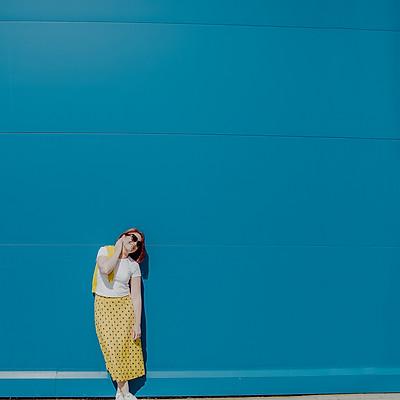 Ира. Сине-желтое утро. Лето 2020