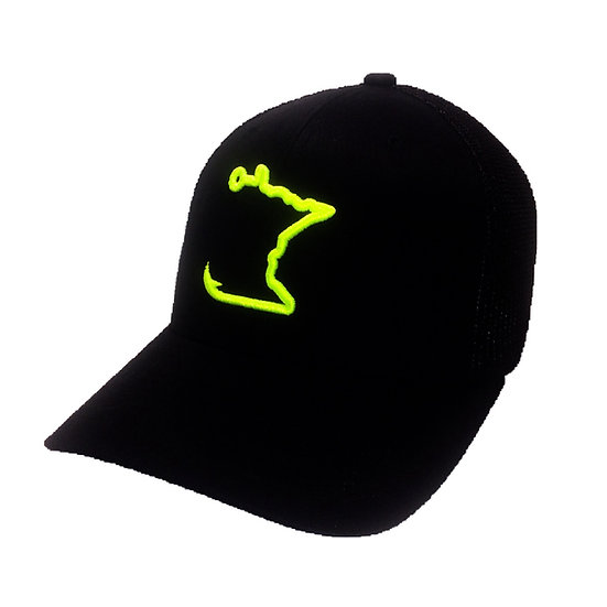 Chartreuse/Black MN Hook Cap