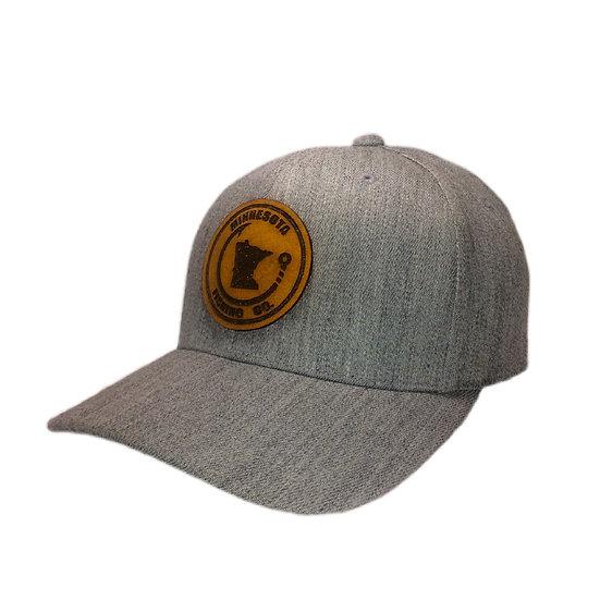 Leather/Grey MN Fishing Co. Cap