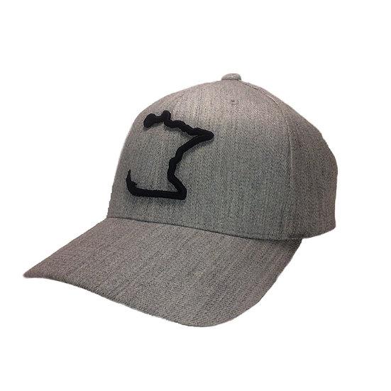 Black/Grey MN Hook Cap