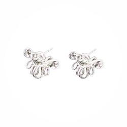 羽 - 925銀耳環 - silver earrings