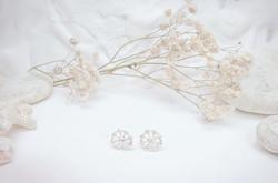 Dandelion silver earrings