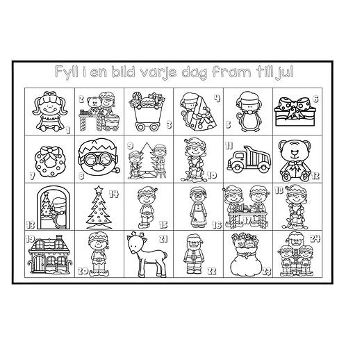 Färglägg fram till jul