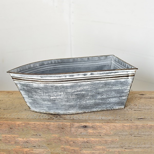 Galvanized Boat Planter/Tub