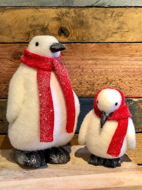 Penguin with Red Scarf