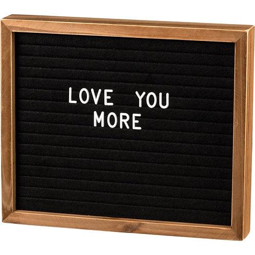 Letter Board Box Sign