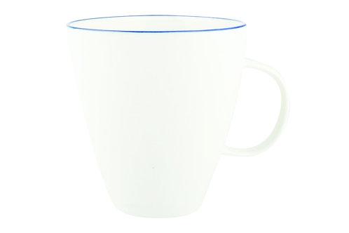 Blue Rim Porcelain Mug