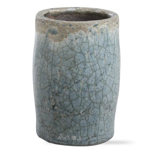 Blue Rustic Terra-Cotta Vase