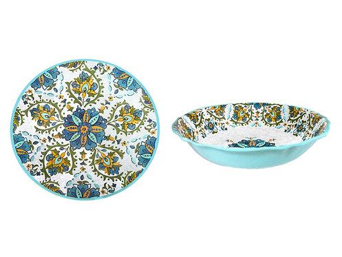 Melamine Dinnerware - Modello Turquoise