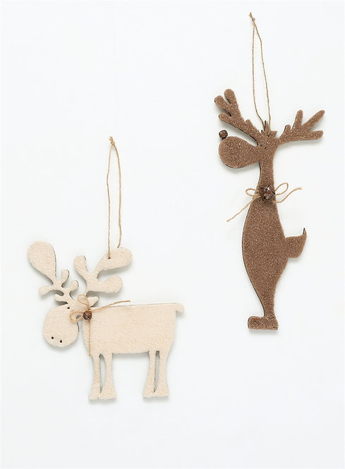 Furry Moose Ornaments