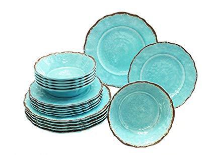 Melamine Dinnerware - Turquoise