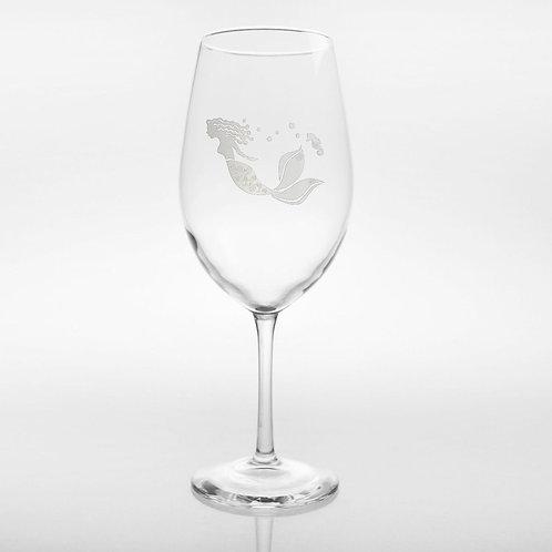 Etched Mermaid Glassware