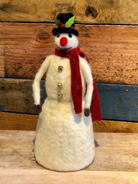 Tall Felt Snowman
