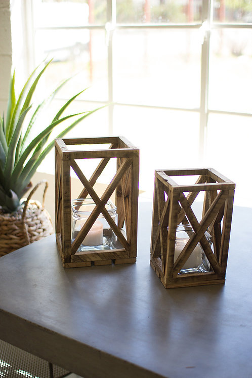 Square Wood Lanterns