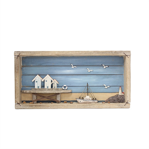 Wood Harbor Shadow Box