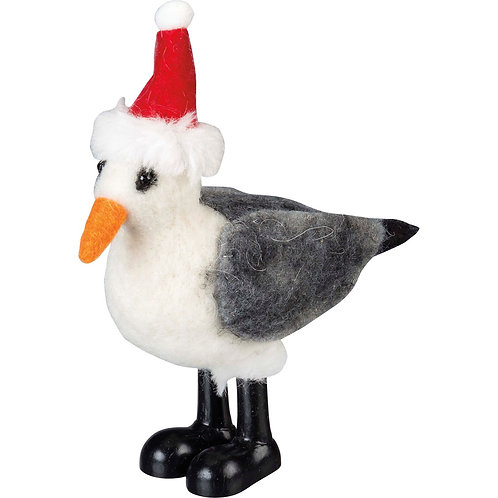 Seagull with Santa Hat