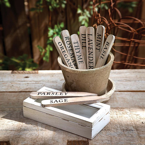 Wood Herb Stakes in Box