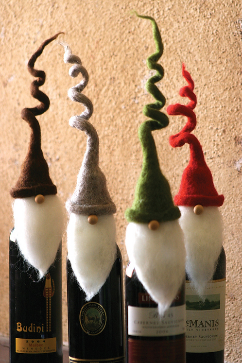 Gnome Wine Bottle Topper