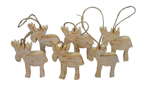 Mini Moose Ornament Set