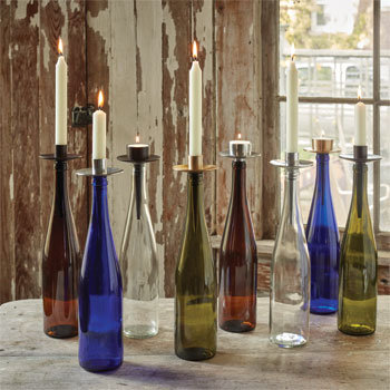 Wine Bottle Tealight Holder