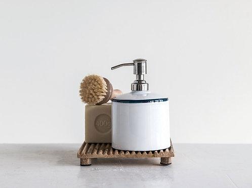 Enamel Soap Pump