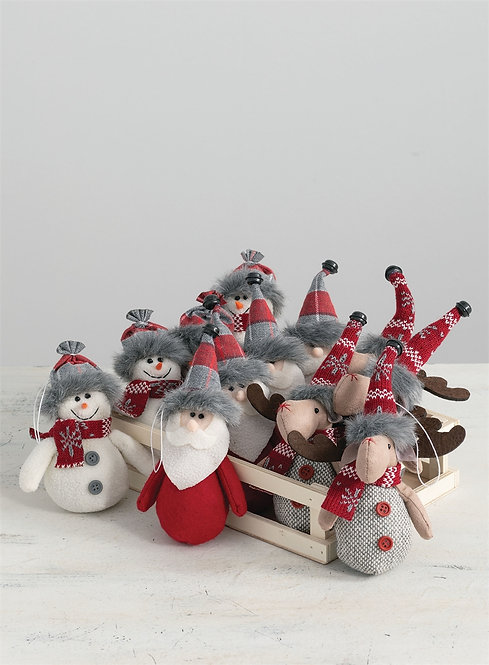 Nordic Fabric Ornaments